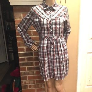 Heritage 1981 Plaid Country Button Down Dress